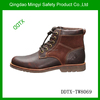 Mid ankle fashionable style 100% full grain leather shoes