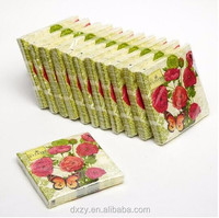 Floral printed paper napkins for party supplies