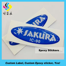 Suitable for Glass Ceramic 3D Epoxy Dome Label Vinyl Sticker