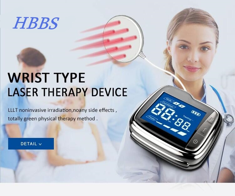Sinusitis Therapeutic apparatus 650nm Laser Therapy Wrist Diode LLLT watch For Diabetes Hypertension  blood pressure Treatment