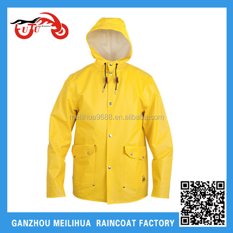 2015 Cheap price promotional factory supply hooded Rainwear