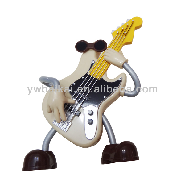 New arrival!funny guitarist plastic music box for gift