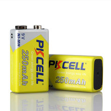 9V 250mAh NI-MH Rechargeable Batteries for toys