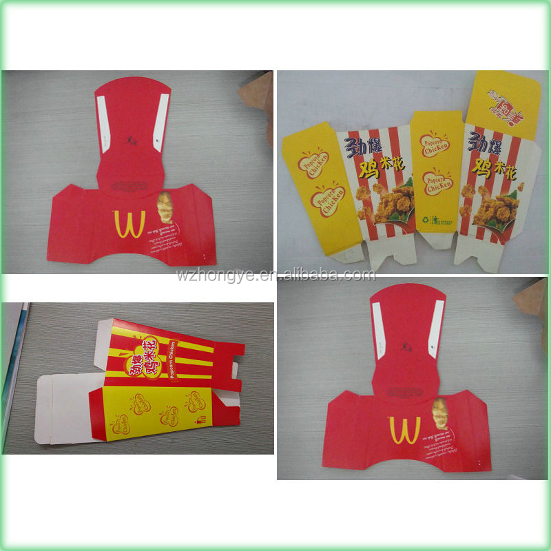 Automatic French Fries Box and KFC Popcorn Box Folder Making Machinery Fold and lgue