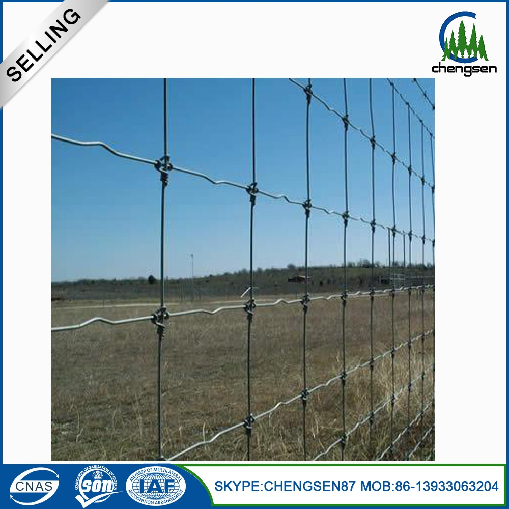 2.5mm Galvanized Cattle metal Fence Mesh for Farm Cattle Metal Farm Fence / Deer Farm Fencing