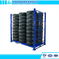 Industrial Metal Shelf System Warehouse Tire Storage Stacking Rack