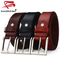 High quality pure leather belts for men