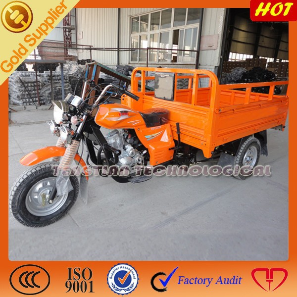 Heavy duty gas motor van cargo tricycle for sale