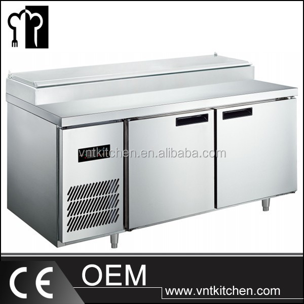 VNTR303 Stainless Steel Pizza Prep Table In Buffet And Restaurant