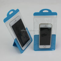 PVC Stand Phone Accessories Zip Lock Packaging Bag