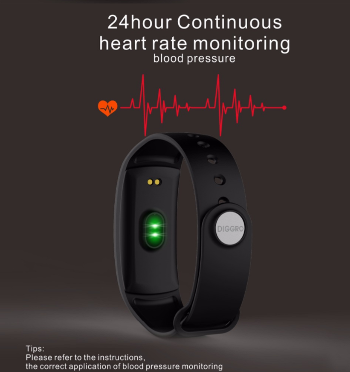 QS90 Blood Pressure Smart Bracelet Heart Rate Monitor Blood Oxygen Monitor IP67 Fitness wristband