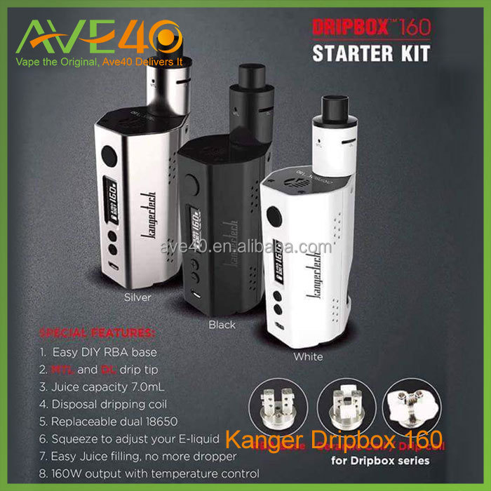 Authentic Kanger Dripbox 160W Starter Kit /Kangertech Dripbox 160W Kit