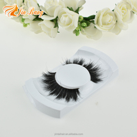 hot sell horse fur false volume 3d horse eyelash real horse hair lashes with custom eyelash packaging box