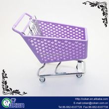 Mini Shopping Cart Hand Trolly Toy Desktop Storage Container