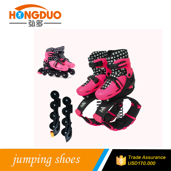 bounce running shoes jumping stilts skate shoes