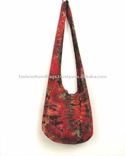 Tie dye hippie hobo sling cross body shoulder bag