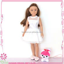 OEM vinyl cyberskin doll 7 inch craft dolls rooted hair