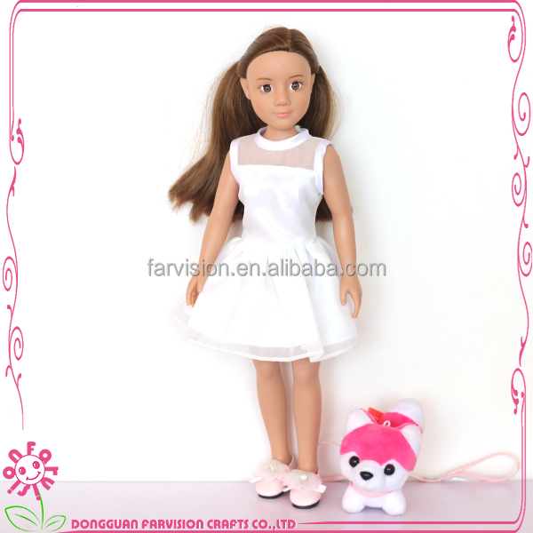 OEM vinyl dolls 7 inch craft dolls with rooted hair