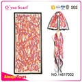 New Style Line Printed Silk Wadding Hand Painted Scarf