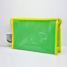 2016 new product fashionable hot PVC Jelly color charm cosmetic bag