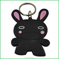 Chinese factory customized soft pvc bunny keychain, lovely rabbit keychain