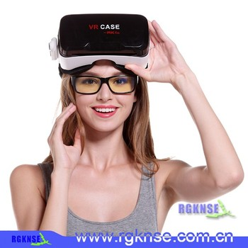 2016 rgknse vr case 6th Accept OEM customized logo 3d vr glasses portable VR BOX