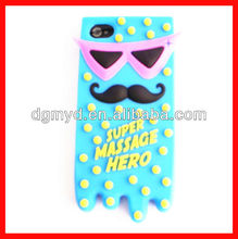Newest custom animal silicone mobile case