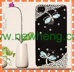 3D Dragonfly Diamond Crystal Cover Case for iphone 5 5s