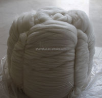 Dehaired and combed cashmere tops white,cashmere tops used for worsted spinning yarn