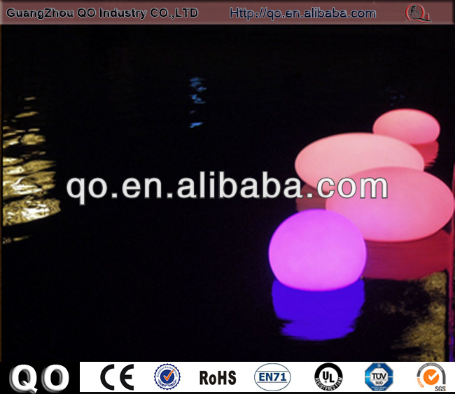 2015 Advertising custom unique design inflatable floating led illuminated swimming pool ball light