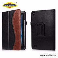 New Item Leather Book Cover Kids Tablet Case for Kindle 7