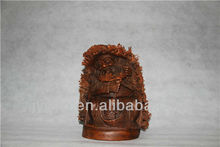 Chinese bamboo carving Buddha sculpture