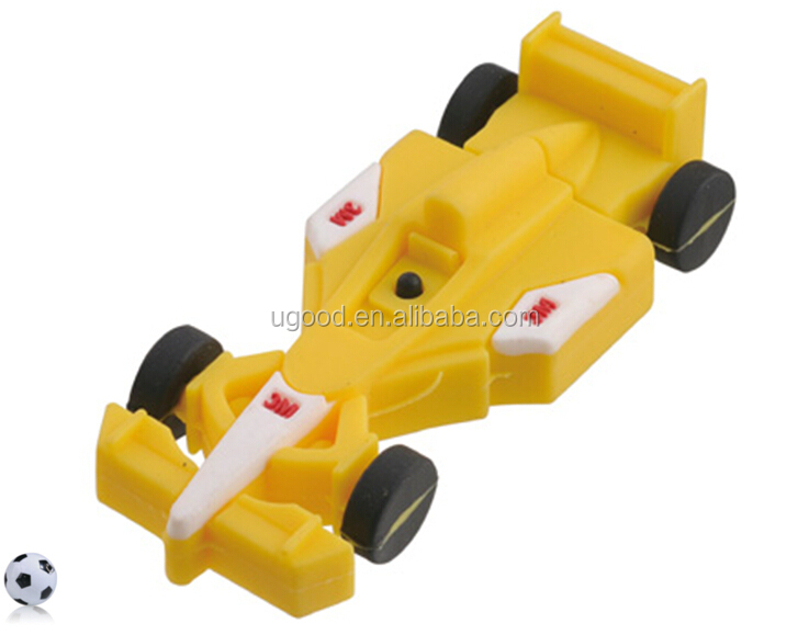Exquisite Racing Car Metal/PVC Plating U disk/ USB Flash Driver 4GB 8GB