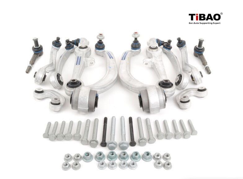 TiBAO Heavy Duty Complete Front Control Arm Kit / Tie rod ends & sway bar links 8D0 498 998 S1