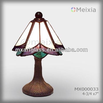 MX000033 wholesale stained glass table lamp shade modern tiffany lamp