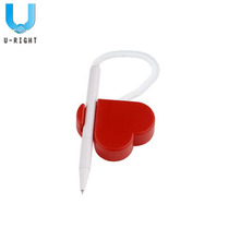 Novelty Plastic Heart Shape Desk Pen for Bank