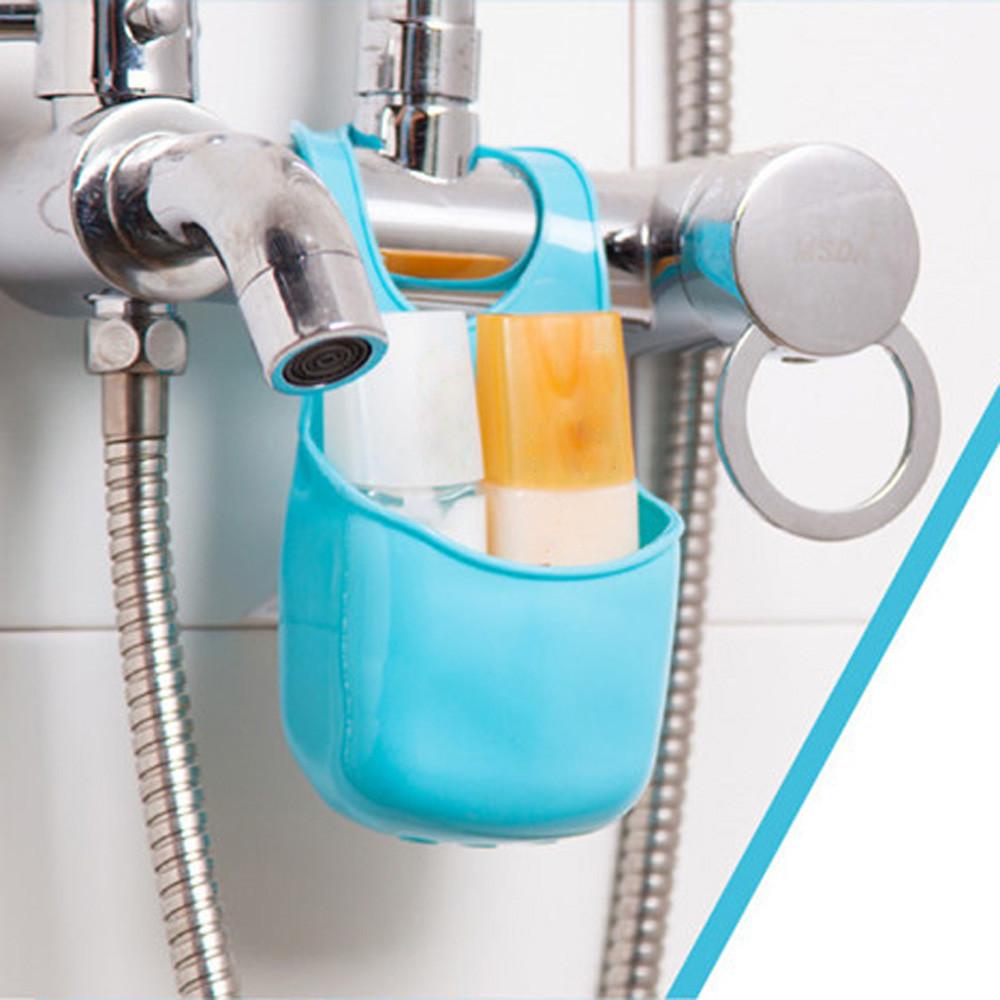 ISHOWTIENDA kitchen sponge holder sink Hanging Storage Bathroom Soap ...
