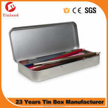 Heart Shaped Metal Tin Pencil/Pen Box