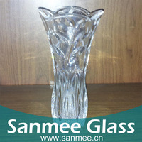 Long stem glass flowers,glass vase,clear glass vase