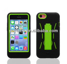 Robot Shock Absorb Bumper Case Cover Shell Skin with Stand for Apple iPhone 5C
