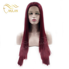24inch blonde synthetic hair wig,red long straight wig cosplay