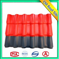 Construction Corrugated Pvc Synthetic Clay Roof Tile Price
