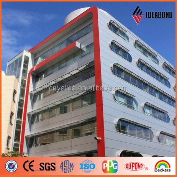 Pvdf Coating4mm thickness durable waterproof new material exterior wall siding panel