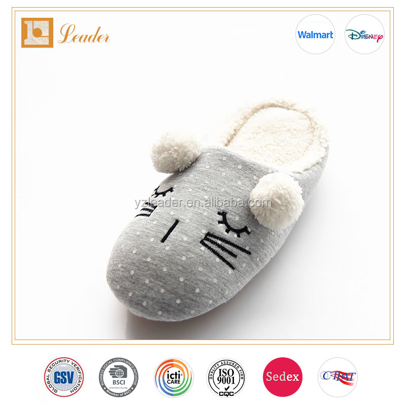 Wholesale High Quality Bear plush indoor slippers