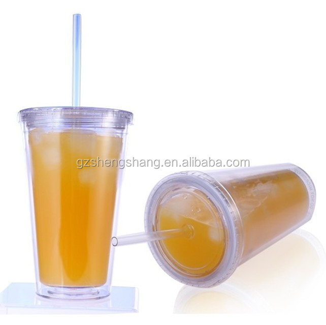 double layer plastic tumbler