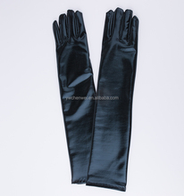 Full finger Elastic leather sexy dance club fashion gloves