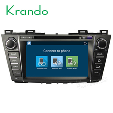 Krando Android 7.1 2 din car dvd gps for mazda 5 Premacy 2009-2012 navigation multimedia system WIFI 4G LTE 2G RAM KD-MZ390