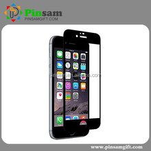 2.5D full cover screen protector universal tempered glass screen protector for iphone 6 plus for iphone 6s plus(Black)