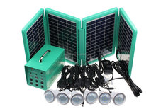 Portable solar lighting kits with foldable solar panel and large battery capacity