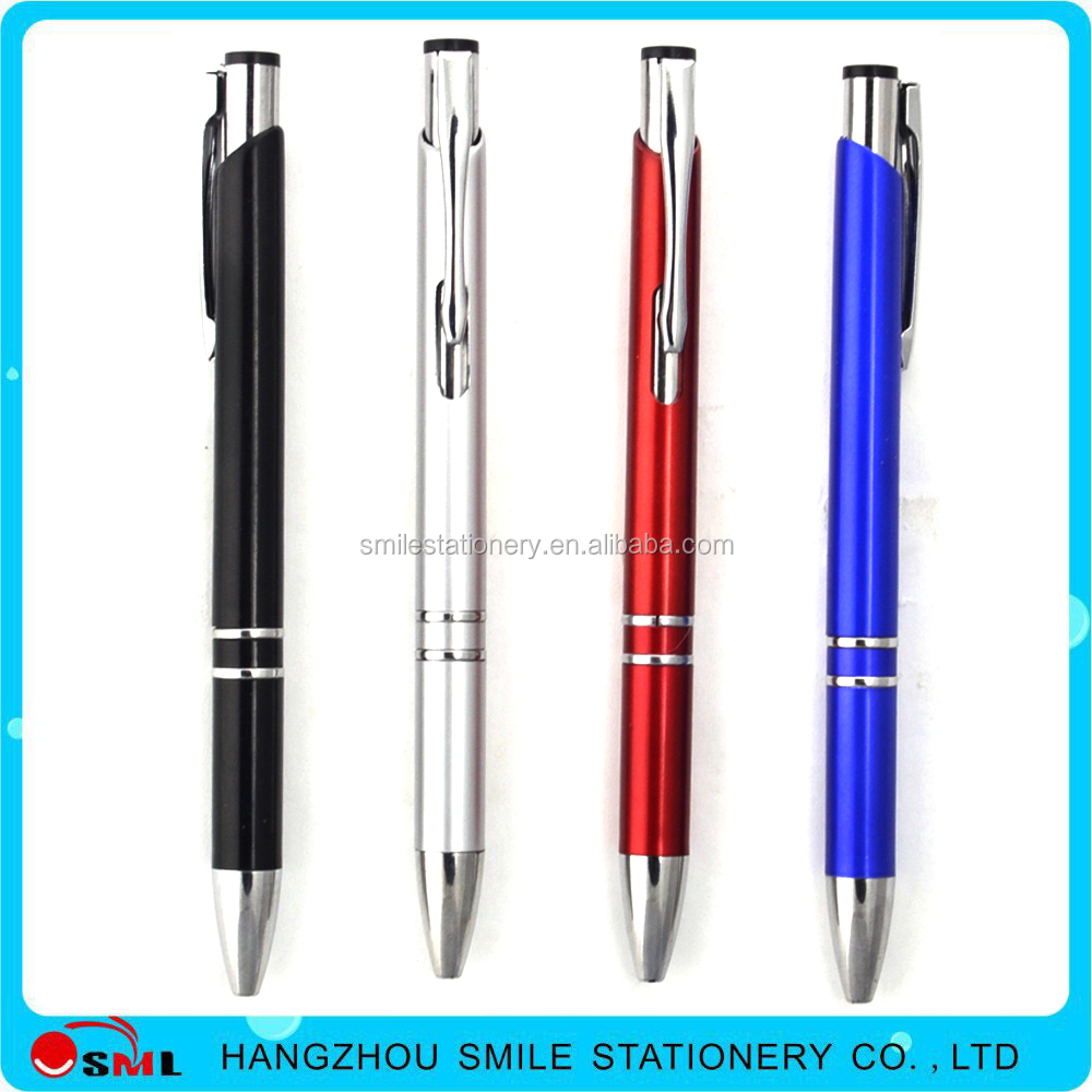 Promotional Gift Aluminum Metal Ball Pen for Office Supply
